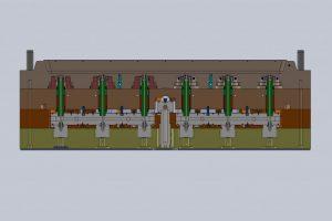Hotrnner aanpassen matrijs doorsnede-001 (L=1600 X B=600 mm)